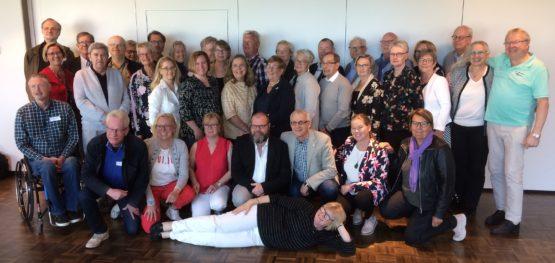 Företrädarna från medlemsförbund och länsorganisationer som var med på kongressen 2019