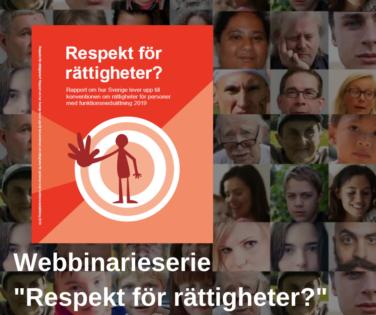 Webbinarier om Respekt för rättigheter.