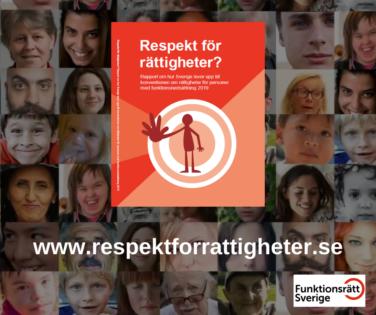 Bild föreställande en bok och ansikten med texten Respekt för rättigheter