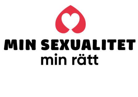 Logga med texten Min sexualitet min rätt