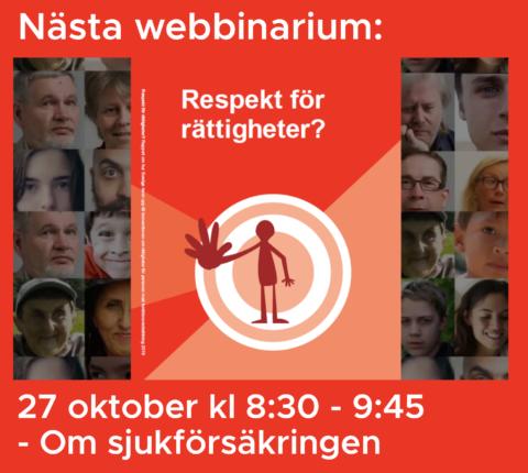 Nästa webbinarium den 27 oktober om sjukförsäkringen